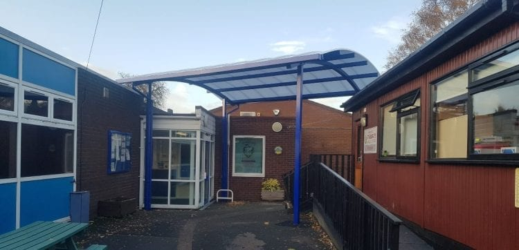 St Georges Junior School Curved Roof Canopy