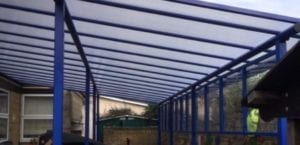 Shelter we installed at St Mary's Catholic Primary School
