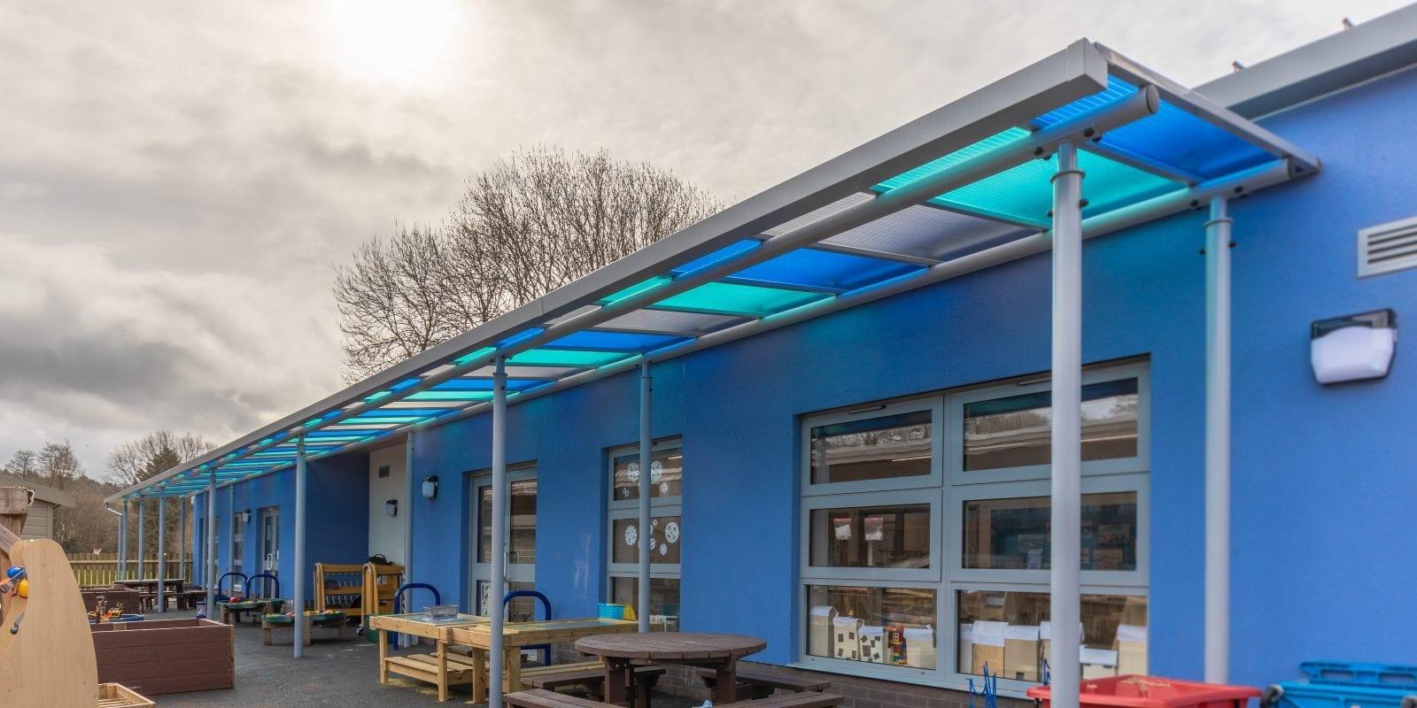 St Nicholas School Colourful Canopy