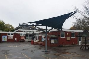 Shade Sail we installed at St Pauls CE Primary School