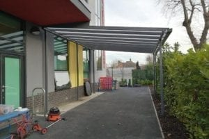 Shelter we fitted at The Mawney School