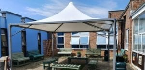 Tepee Shelter we installed at Thomas A Becket Junior School