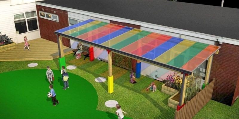 Timber School Playground Canopy