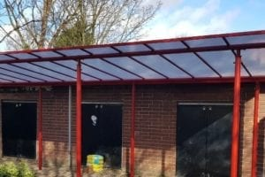 Shelter we fitted at Tulse Hill Early Years Centre