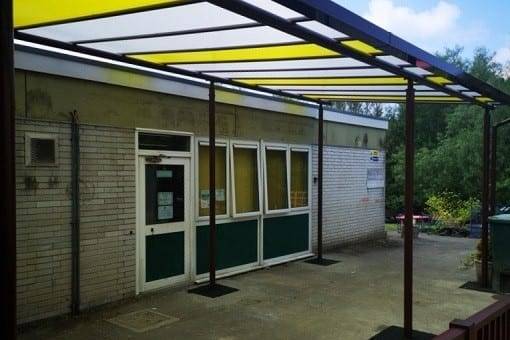 Shelter we made for Chaddlewood Primary School
