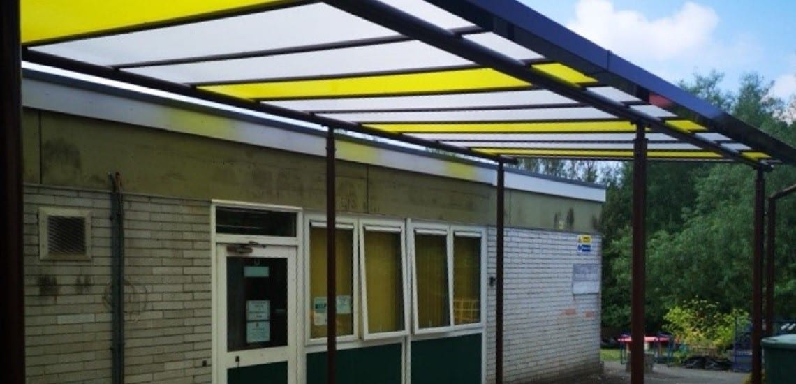 Shelter we installed for Chaddlewood Primary School
