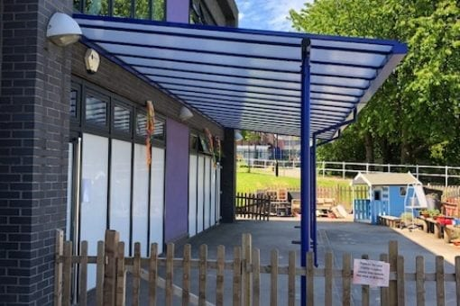 Shelter we installed at Christ CofE Primary School