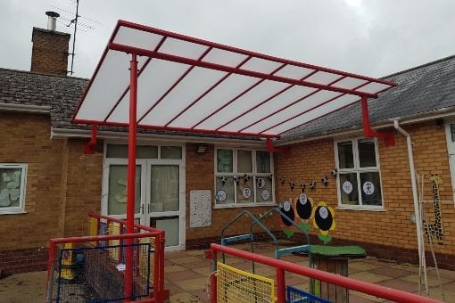 Shelter we installed at Corbett Primary School