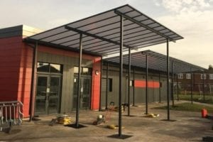 Canopy we fitted at Dean Trust Ardwick