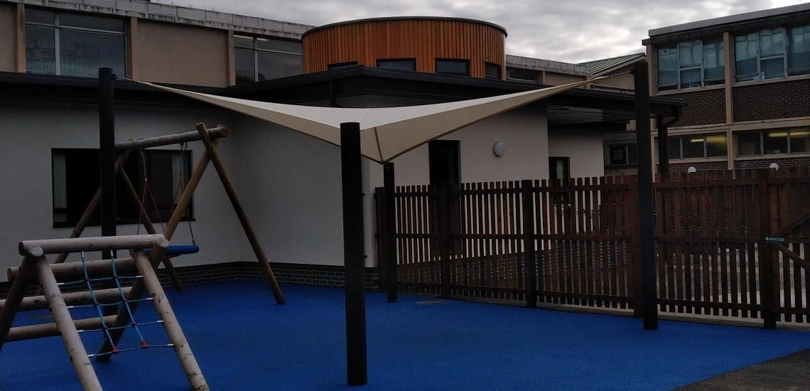 Fabric canopy made for Galashiels Academy