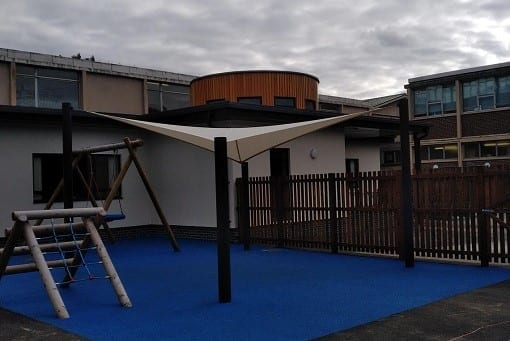 Fabric sail we made for Galashiels Academy