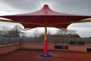 Fabric canopy we made for Hadrian School
