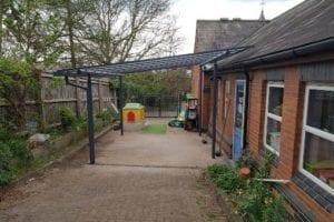 Shelter we fitted at Kilby Pre School