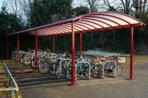 Bike store we installed at Myton School