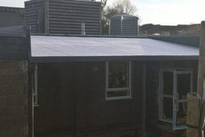 Straight roof shelter we made for Northmuir Primary School