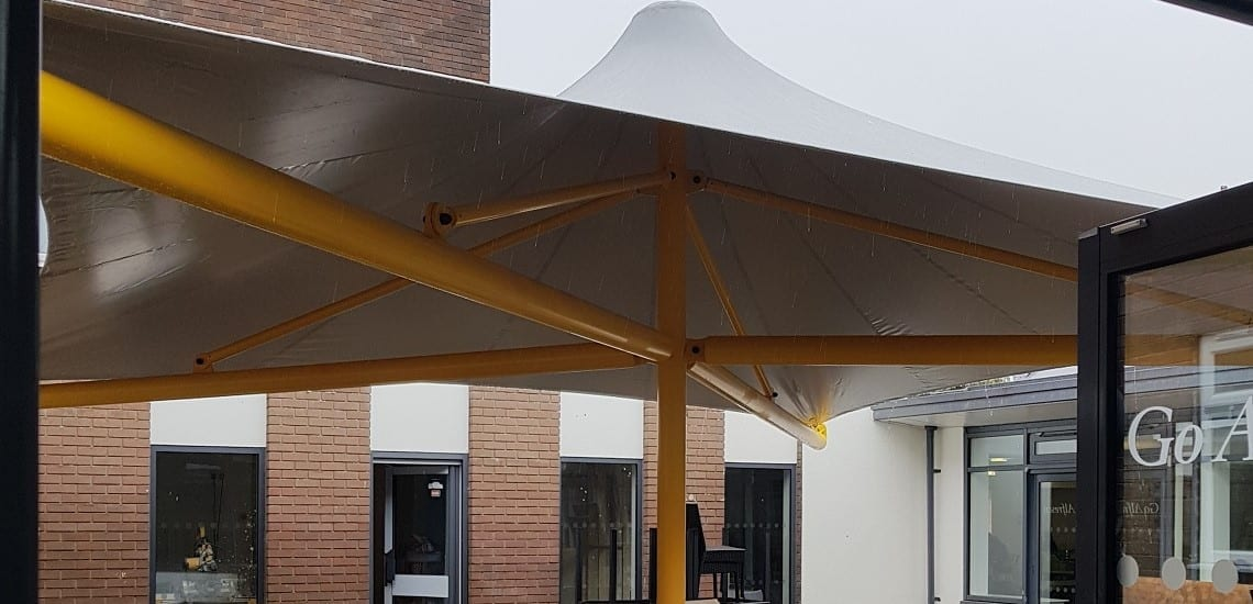 Fabric canopy we made for Reaseheath College