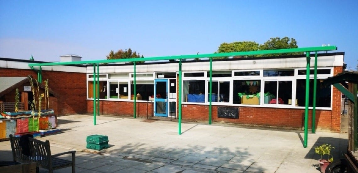 Canopy we made for The Mary Bassett Lower School