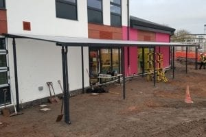 Canopy we installed at West Heath School