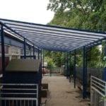 Shelter we fitted at Ysgol T Gwynn Jones