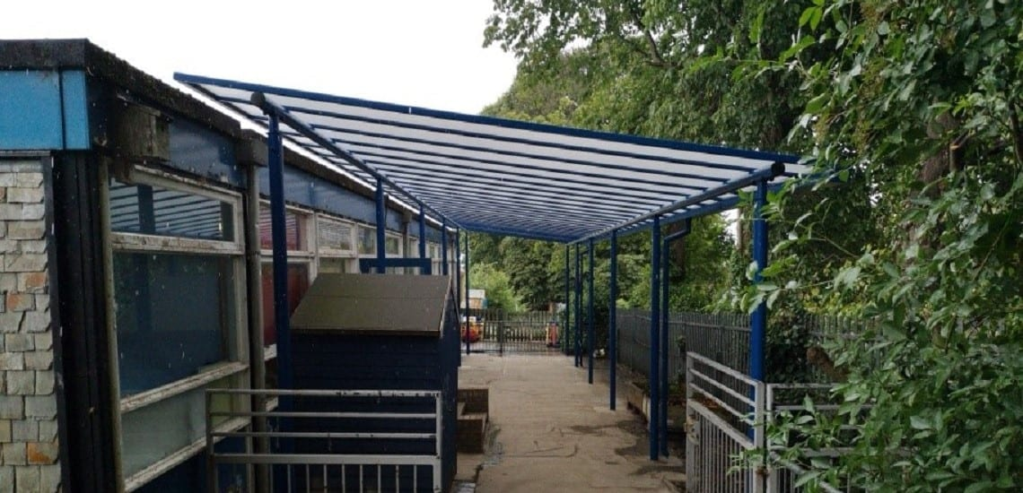 Shelter we fitted at Ysgol T Gwynn Jones