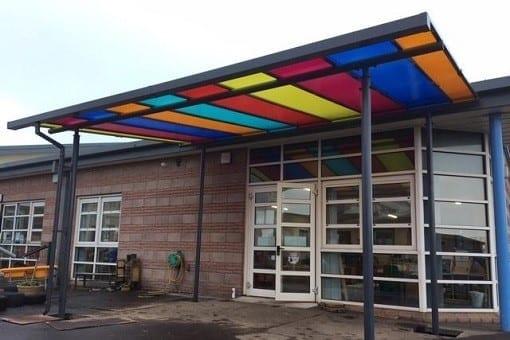 Canopy we designed for Southmuir Primary School