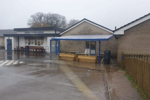 Shelter we installed at St Marks C of E School