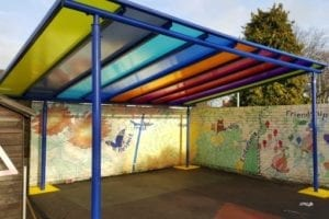 Shelter we designed for St Mary's CE School