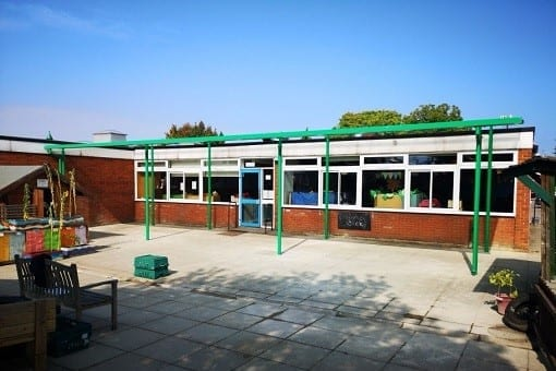 Shelter we installed at The Mary Bassett Lower School