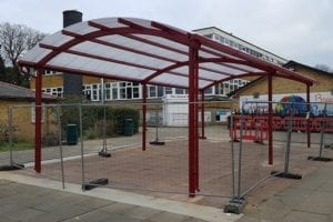 Shelter we installed at West Hatch High School