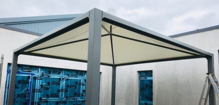 Tepee shelter we designed for Ysgol Maes Ebbw