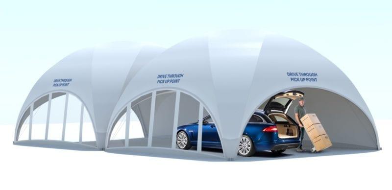 Fabric Car Drive Thru Canopy