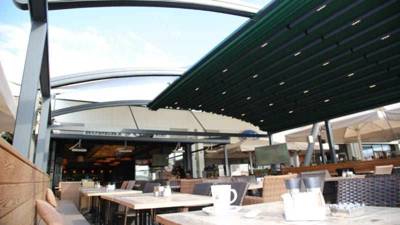 Green Fabric Retractable Canopy