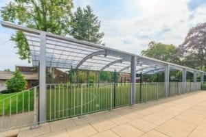 Covered MUGA we installed at Haileybury College