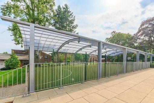 Covered MUGA we installed at Haileybury College