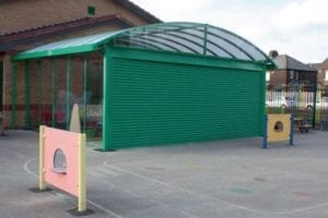 Shelter we installed at Ditton Primary School