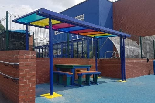 Shelter we designed for Djanogly North Gate Academy