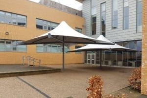 Canopy we fitted at Ebbw Fawr Learning Community