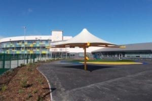 Canopy we designed for Holywell Learning Campus