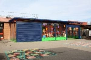 Shelter we installed at Monksdown Primary School