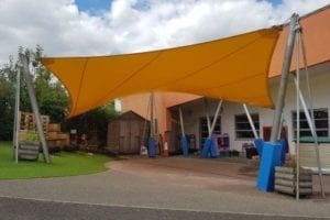 Sail we installed at Monkston Primary School