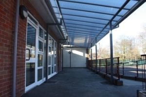 Shelter we fitted at Our Lady of the Angels School
