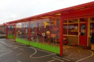 Canopy we installed at St Saviours School