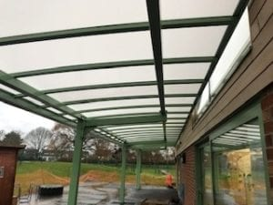 Shelter we installed at Tattenhall Park Primary School