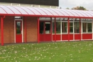 Shelter we fitted at Tibberton Primary School