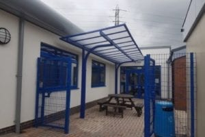 Shelter we designed for Warren Wood Primary School