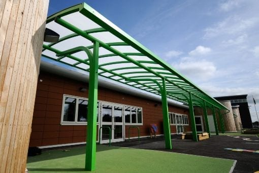 Canopies we fitted at Welsh Language School
