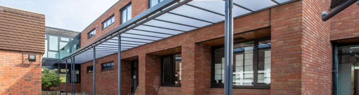 Canopy we fitted at Aldersley High School