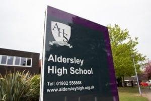 Entrance to Aldersley High School