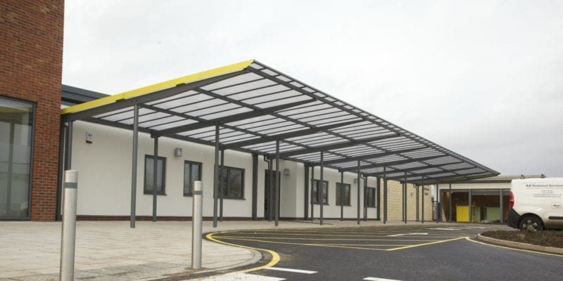 Canopy we installed at Ashmount School