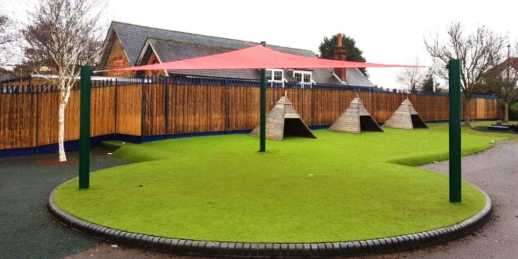 Canopy we installed at Bedfont Primary School